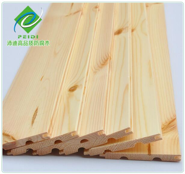 用俄罗斯樟子松制作的桑拿板具有木纹细直